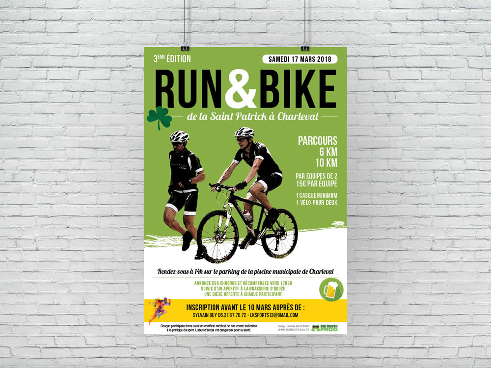 Affiche : Run & Bike de la Saint Patrick