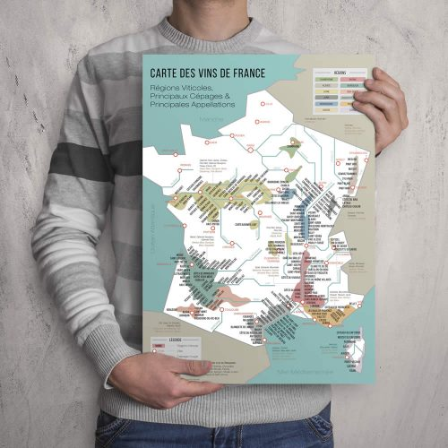 French map of wine regions and vineyards - BigMouthFrog
