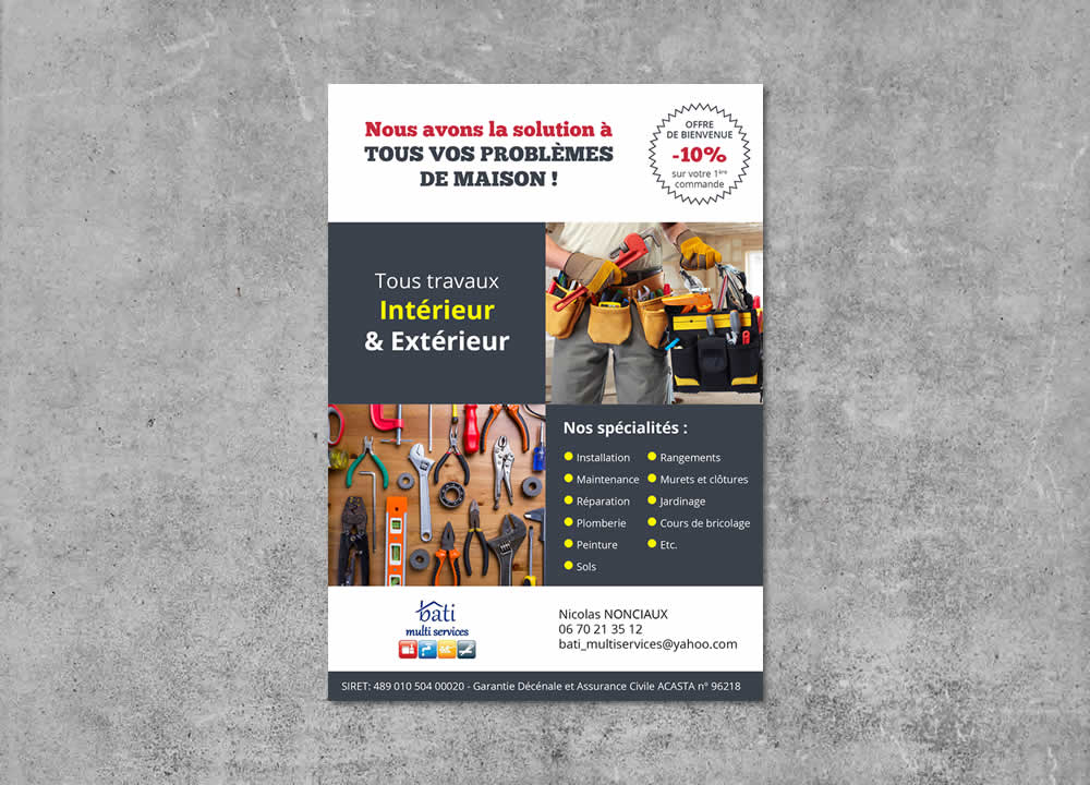 Flyer Multiservices à domicile