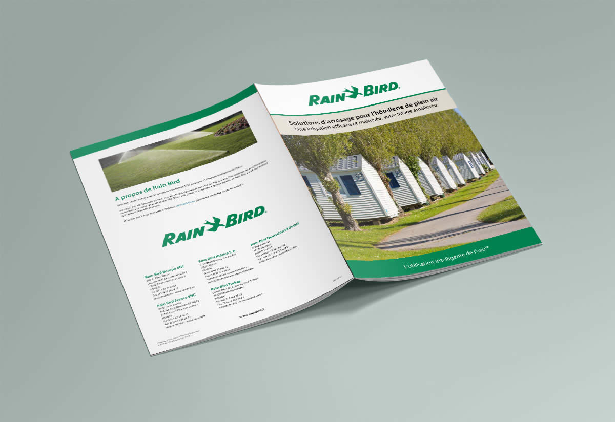 Brochure camping Rain Bird - cover